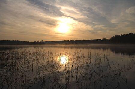 exhalation: Russia; North Karelia; the river Chirka-Kem. Early morning