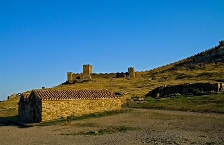 Sudak fortress in Crimea - view of the citadel Stock Photo - 11993827