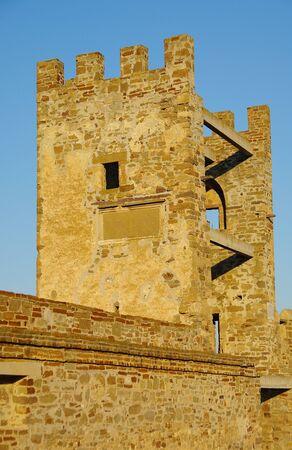 Sudak fortress in Crimea - a tower. Stock Photo - 11993839