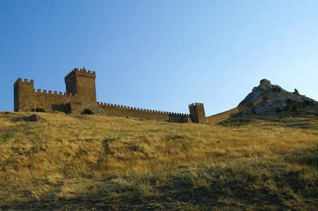 Sudak fortress in Crimea - view of the citadel Stock Photo - 11993842