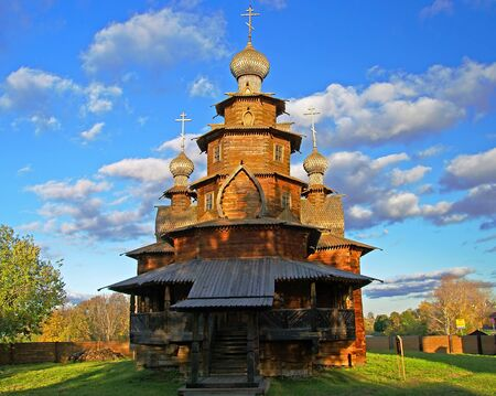kokoshnik: The Suzdal museum of wooden architecture open-air, Russia.