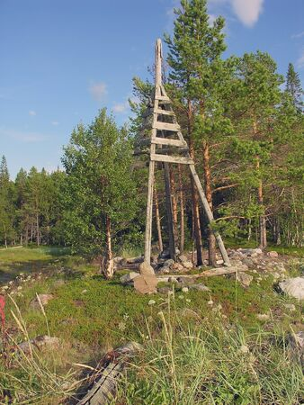 triangulation: Triangulation tower on the bank of the White Sea
