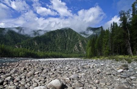 Sayan Oka River in the canyon Orho-Bom, Eastern Sayan, Siberia, Russia