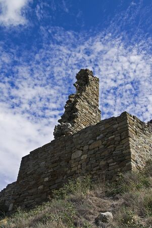 Sudak fortress in Crimea - ruins of the tower  Stock Photo - 16532647