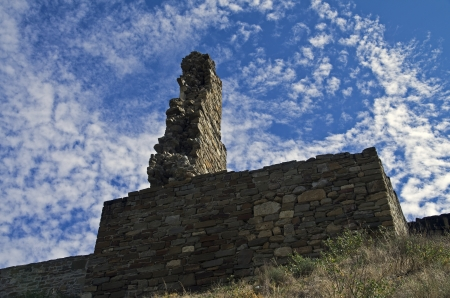 Sudak fortress in Crimea - ruins of the tower