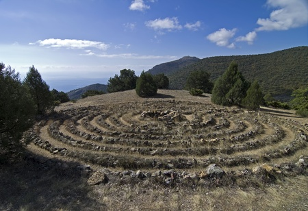 Crimean mountains  Maze built by the followers modern esoteric teachings Stock Photo - 16869269