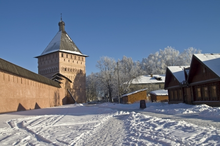 The walls and towers of the old Orthodox monastery  Suzdal, Russia Stock Photo - 17742565
