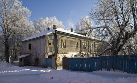 Old house in Suzdal, provincial Russian town photo