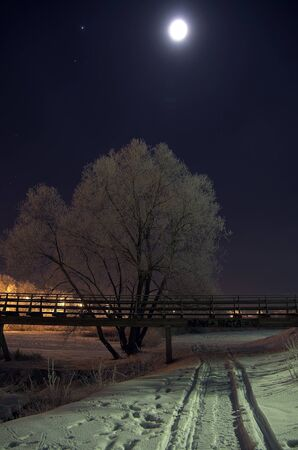 Moonlight lanterns: Xem đêm trên cầu bộ tại một thị trấn nhỏ của tỉnh Suzdal, Nga