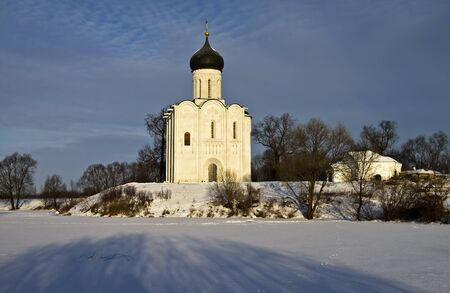 Church of the Intercession on the Nerl - famous example of old russian architecture of 12 century Stock Photo - 17989541