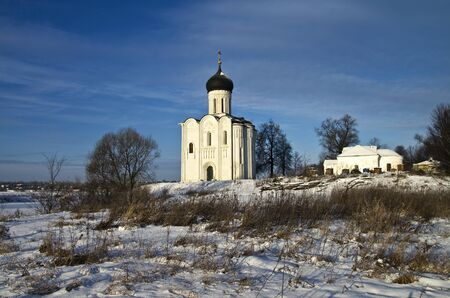 Church of the Intercession on the Nerl - famous example of old russian architecture of 12 century Stock Photo - 17989552