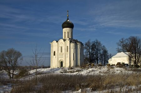 Church of the Intercession on the Nerl - famous example of old russian architecture of 12 century Stock Photo - 17989555