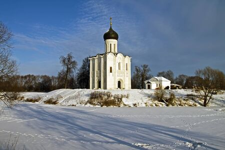 Church of the Intercession on the Nerl - famous example of old russian architecture of 12 century Stock Photo - 17989546