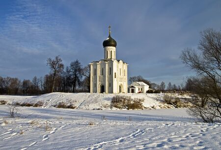 Church of the Intercession on the Nerl - famous example of old russian architecture of 12 century Stock Photo - 17989548