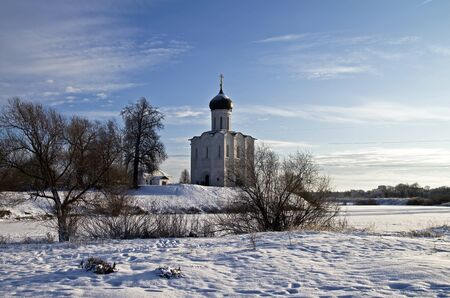 Church of the Intercession on the Nerl - famous example of old russian architecture of 12 century  Stock Photo - 17989558