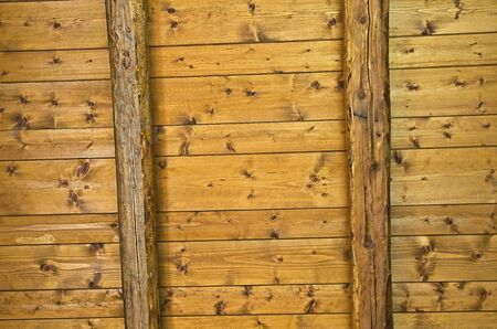 Background texture of ceiling made out of wooden beams  photo