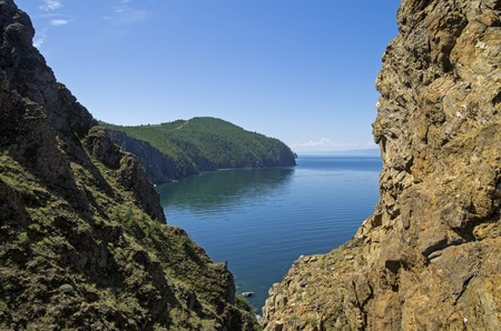Baikal landscape  View from the island of Olkhon   photo