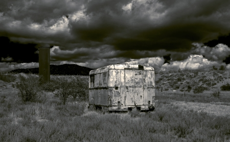 Stylization of landscape in a post-apocalyptic style  photo