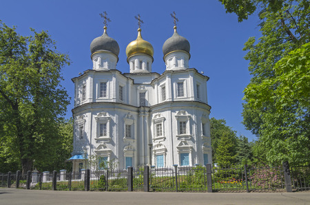 blanch: Church of the Kazan Icon of the Mother of God, Moscow, Russia  Stock Photo