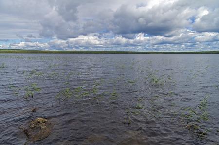 pista: Clouds over the lake. Vaykulskoe Lake, Karelia, Russia.