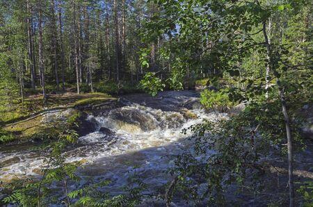 pista: Rapids on the river Pistayoki, Karelia, Russia.
