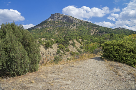 foothills: Foothills of the mountain Ai-George (or Saint George). Crimea, September. Stock Photo