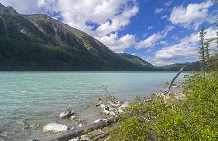 Kucherla lake. Altai Mountains, Russia. Sunny summer day. Stock Photo