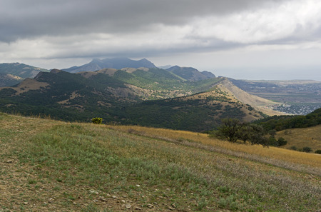 Tokluk ridge, view from the top. Crimea, the beginning of September.