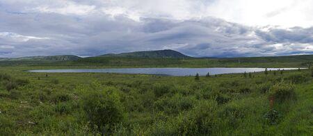 Lake Okinskoye. This lake is the source of the Sayan Oka River. East Sayan, Buryatia, Siberia, Russia.