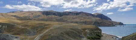 Cape Meganom. Crimea, a sunny day in September. 版權商用圖片