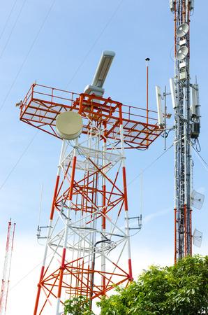 satelite: Antenna larger outstanding.