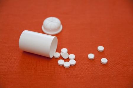 Close up view of Arnica pills Stock Photo