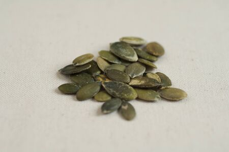 Close-up view of Italian organic Toasted Pumpkin Seeds