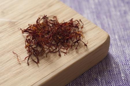 Close-up view of Italian organic Saffron from Abruzzo Stock Photo