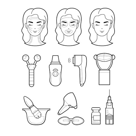 The model and instruments of cosmetology based services.
