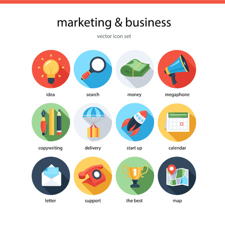 Marketing and business icon set