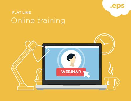 Illustration for online training webinar