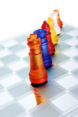 A game of chess comes to an end. The king is checkmated. Stock Photo - 7344546
