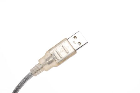 usb2: Close up of USB cable isolated on white