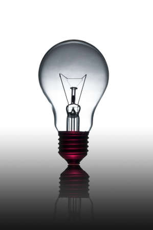strong light: Eletric light lamp on gray gradient background Stock Photo