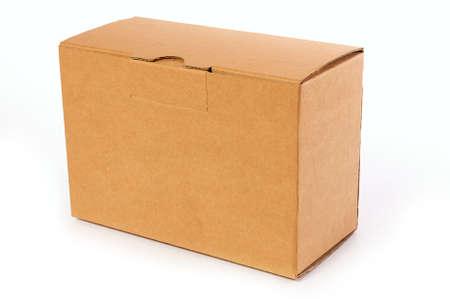Blank Cardboard Box on isolated photo