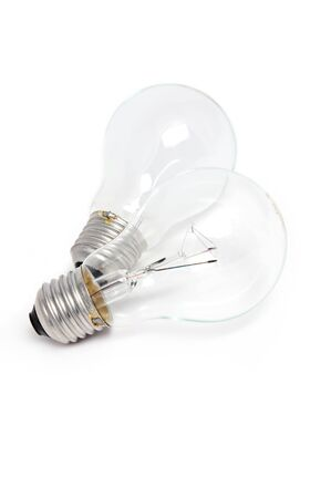 Two bulb on white isolated photo
