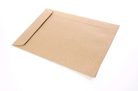 Brown Envelope document on white background Stock Photo - 9494537