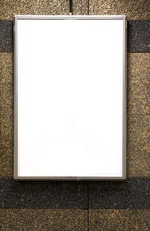 advertisment: Blank advertisment board in underground train