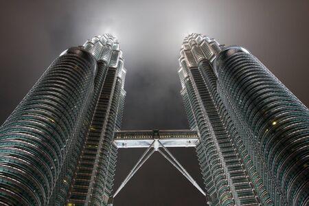 Kuala lumper, Malasia-December 30, 2010 : Night views of Landmark on December 30,2010 Petronas Twins Towers, Kuala Lumpur, Malaysia. Detail view of Petronas Towers