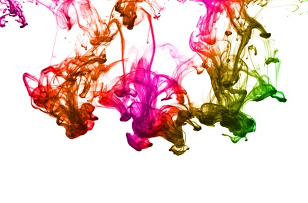 Multicolor ink isolated dissolving in water