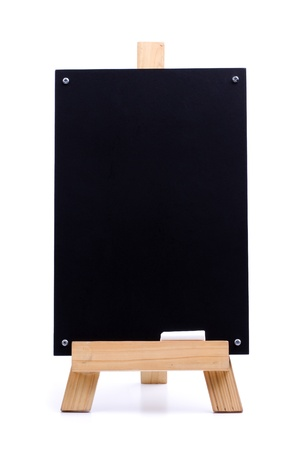 blank canvas: A chalk menu board with wood frame and chalk Stock Photo