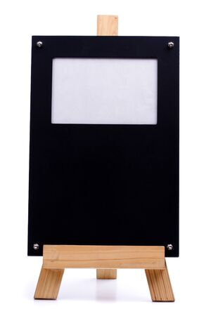 A chalk board frame with wood and photo frame photo