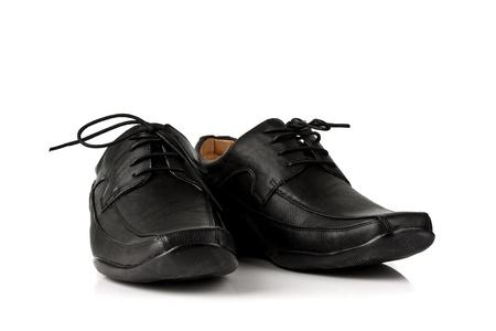 Elegant black leather men photo