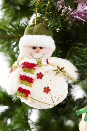christmastree: Closeup of Christmas-tree decorations